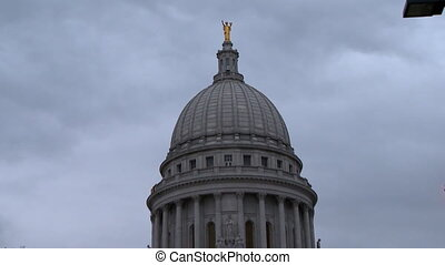Madison Capitol Building 1 - Madiison, WI In News protest...