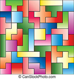 puzzle pieces - vector puzzle pieces fit together