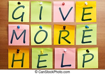 Give more help made by post it