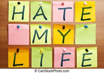 ódio, meu, vida