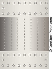 Metal sheet with a rivet. - A version of a fixing material,...