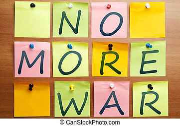 No more war words made by post it