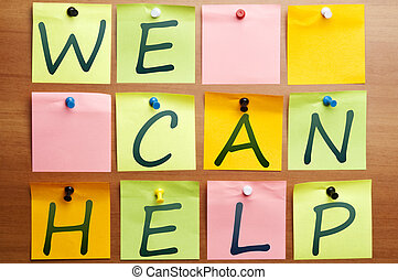 We can help ad made by post it