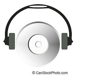 cd-rom with headphones