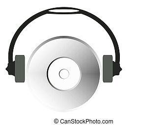 cd-rom with headphones
