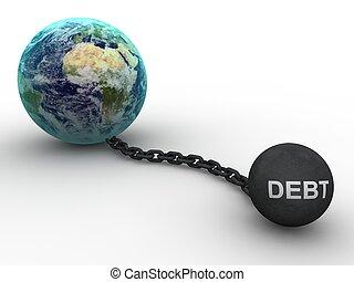 Debt concept  - Debt concept