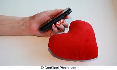 Cell phone - I love you sms message