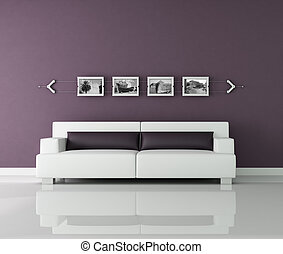 purple and withe interior