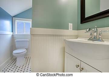 Luxury fresh green and white modern bathroom - Luxury...
