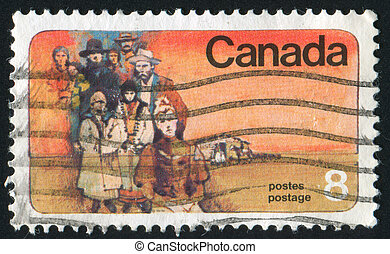 stamp - CANADA - CIRCA 1974: stamp printed by Canada, shows...