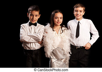 Bowtie or Necktie? - One adorable girl and two handsome boys...