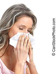 gripe, alergia
