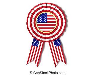 Ribbon award USA - Ribbon award in the colors of U.S. flag.