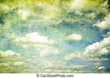 sky  - grunge background of a sky with clouds