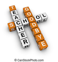 goodbye school 3D crossword orange series