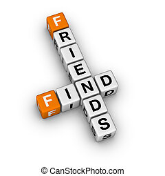 search new friend 3D crossword orange series