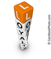 customer loyality 3D crossword orange series