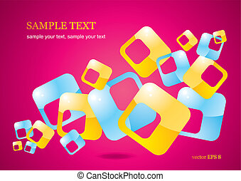 Abstract background of glossy color