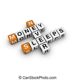 money never sleep 3D crossword orange series