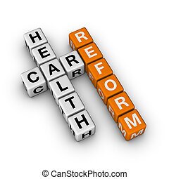 Healthcare Reform 3D crossword orange series