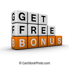 bonus symbol - get free bonus symbol for sales promotion 3D...