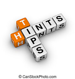 tips and hints icon  (3D crossword orange series)