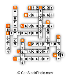 lessons plan 3D crossword orange series
