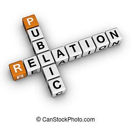 Public Relation   (3D crossword orange series)