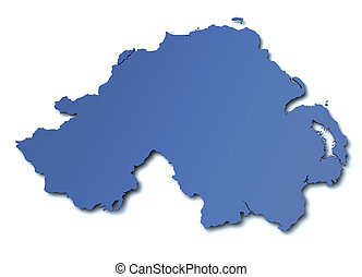 Map of Northern Ireland - UK