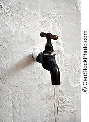 Water tap valve - Detail of a water tap valve faucet spigot