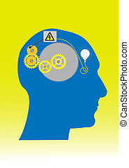Idea - Illustration about the use of brain as a generator of...
