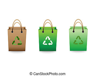 recycle green sale shopping bags