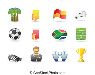 Soccer related icons set for design