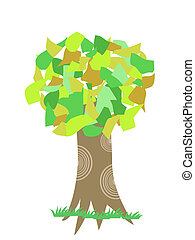 collage tree  - simple collage tree for design