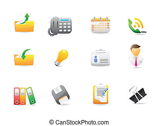 Business and office icons for web design