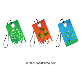 recycling tags  - e isoalted recycling tags