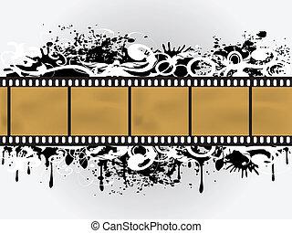 Grunge Floral Film Border