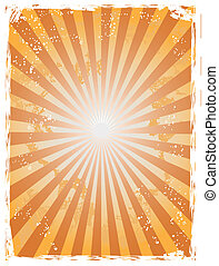 Grunge sunray background - The background of grunge sunray...