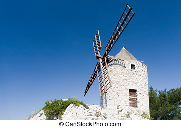 Windmill of Provence in Marseille, France