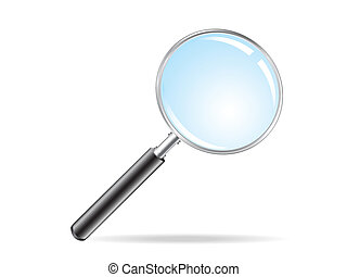 isolated magnifying glass