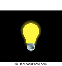 Bright yellow electric lamp