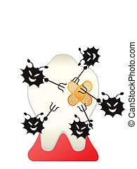 cartoon tooth bugs