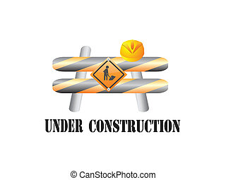 Under construction sign - The sign of under construction