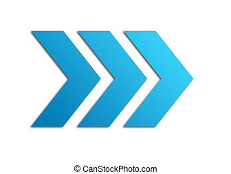 Blue arrows web icon