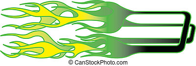 Clip Art Vector of Car or hot rod with flames. csp5568186 - Search ...