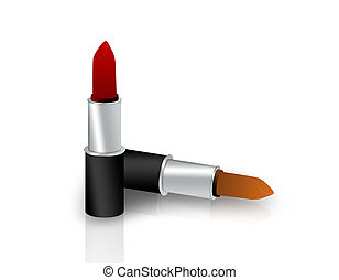 Lipstick - A couple of lipsticks isolated on white