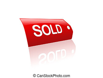 Red sold tag