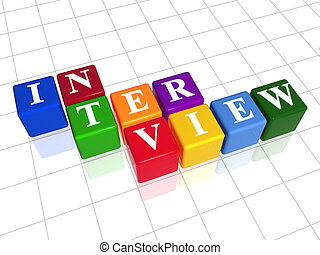 interview in colour 2 - 3d colour boxes with text -...
