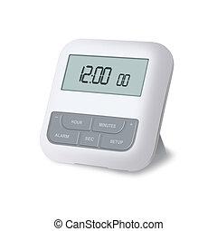 Alarm clock - 3D rendering of a digital alarm clock