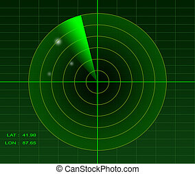 Radar image - Illustration of a radar image spotting 3...